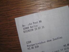 Berlin, performance et relique, juillet 2011