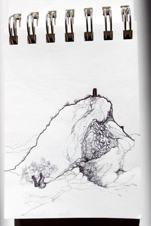ruine sur un rocher